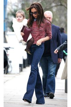 Victoria Beckham and others show how to perfect the flare pant look this season.