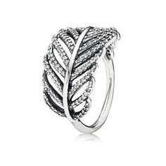$80 Light As A Feather Ring, Clear CZ | Sterling Silver | PANDORA US