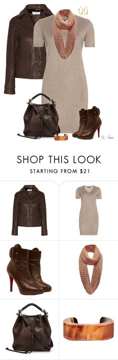 """""""Shades of Brown"""" by ksims-1 ❤ liked on Polyvore featuring Title A, Loro Piana, Christian Louboutin, Chloé, Marni and Tory Burch"""