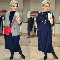 Fashion Over 50, Work Fashion, Hijab Fashion, Fashion Looks, Short Layered Haircuts, Short Hair Cuts, Short Hair Styles, Look Plus Size, Clothing Hacks