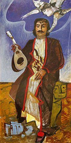''Rigas'' Dimitris Mytaras--Ρήγας-Δ.ΜΥΤΑΡΑΣ Contemporary Decorative Art, Greece Painting, Greek Culture, Painter Artist, Greek Art, Classical Art, Naive Art, Conceptual Art, Urban Art