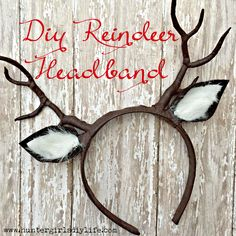DIY Reindeer Headband