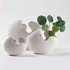 kleine keramische markor meubels eierschaal vaas moderne mode korte kunst van het bloem witte bloem(China (Mainland))