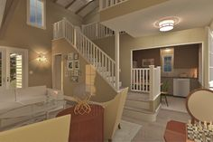 Cottage Style House Plan - 3 Beds 2 Baths 983 Sq/Ft Plan #489-5 Photo - Houseplans.com