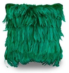 Luxury Emerald Exotic Feather Pillow From InStyle-Decor.com Beverly Hills Trending Hollywood Home Decor Enjoy & Happy Pinning