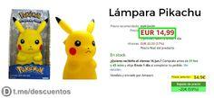 Lámpara Pikachu 25cm por sólo 1499 - http://ift.tt/2ssUexo