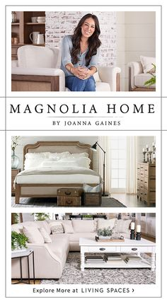 Magnolia Home by Joanna Gaines at Living Spaces Joanna Gaines Furniture, Joanna Gaines Living Room, Farmhouse Living Room Furniture, Home Furniture, Living Room Decor, Business Furniture, Furniture Stores, Kitchen Furniture, Rustic Furniture