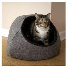 Rosewood 40 Winks Hooded Tweed Cat Bed
