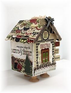 Christmas House. Debbie I have this house die. We should make you houses for every holiday