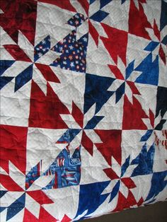 Image Detail for - All American Patriotic Quilt - Machine Quilted Star Pattern - www ...
