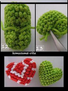 心形の編み方〜その2 - 小娘の手芸