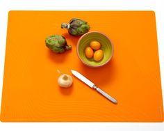 Modern-Twist Studio Placemats in Tide-Tangerine