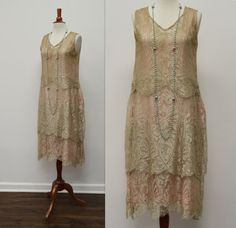 1920s Lilac and Lace Tiered Flapper Dress by WalkingDeadDresses, $78.00