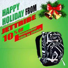 10 % Off Entire Site  on all products. Discount apply automatically. Happy Holidays ! Visit Jettribe.com this holiday season #jettribe #jettriberacing #jetski #pwc #jetskidaily #standupnation #backpacks #shirts #towables #racegear #watercraft #seadoo #seadoolife #kawasaki #yamaha #holidays #giftideas #shopping http://bit.ly/2hzeEPi