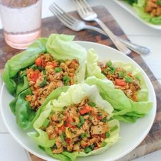 Super easy Chipotle Chicken Lettuce Wraps!