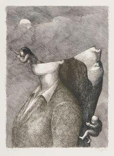 기괴하고 엽기적이고 불편하기 짝이 없는 롤랑 또뽀르(Roland Topor)의 그림 : 네이버 블로그 Dark Art Drawings, Painting, Painting Art, Paintings, Painted Canvas, Drawings