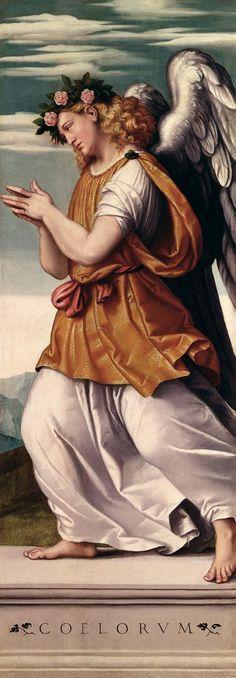 An Angel (16th century) Giovanni Battista Moroni (1520-1578) ~ Giovanni Battista Moroni was a North Italian painter of the Late Renaissance period. He is also called Giambattista Moroni.