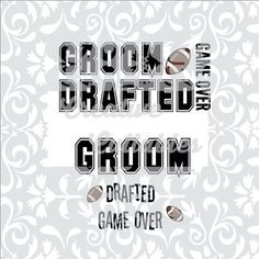 Wedding Titles Groom Football for Monogramming for use with Silhouette or other craft cutters (.svg/.dxf/.eps)