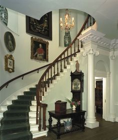 Ground floor staircase of Pollok House.
