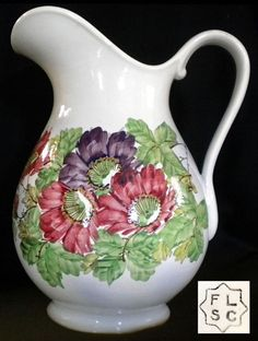 Porcelana Brasil: gomil e bacia - Fábrica de Louças Santa Catharina
