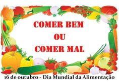 Comer bem ou comer mal - Canção para o Dia Mundial da Alimentação (16 de... Crafts For Kids, Food, Boarders, Human Body, Professor, 1, Chocolate, Health, Food Pyramid