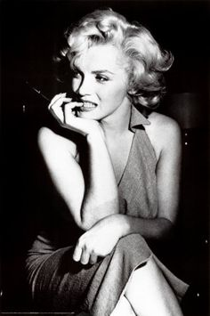 Marilyn Monroe. I watched My Week With Marilyn, and fell more in love with her.