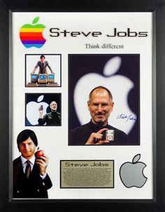 Steve Jobs - Signed Custom Framed Photo Collage #SteveJobs