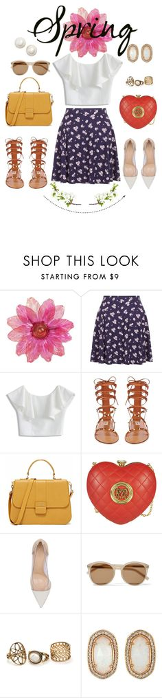 """""""Sem título #238"""" by yozinha ❤ liked on Polyvore featuring Chicwish, Valentino, Love Moschino, Gianvito Rossi, Yves Saint Laurent, Kendra Scott and Kate Spade"""