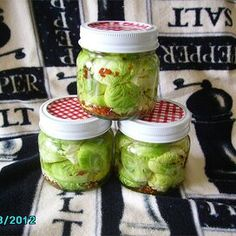 Zesty Pickled Brussels Sprouts Pickled Brussels Sprouts Recipe, Pickled Radishes, How To Make Pickles, Cucumbers And Onions, Relish Trays, Homemade Pickles, Fermented Foods, How To Make Homemade, Canning Recipes