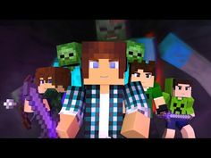 Minecraft Música ♫ - COM MEUS AMIGOS | Animation Minecraft (Feat. Brancoala) - YouTube
