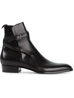 Handmade men black jodhpurs ankle boot, Men ankle