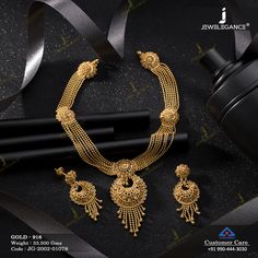 Plain Gold Necklace Set jewellery for Women by jewelegance. ✔ Certified Hallmark Premium Gold Jewellery At Best Price Antique Jewellery Designs, Gold Jewellery Design, Bridal Jewellery, Antique Jewelry, Gold Jewelry, Necklace Set, Gold Necklace, Jewelry Sets, Women Jewelry