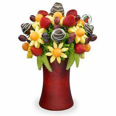 edible arrangements as centerpieces instead of flowers.