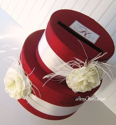 Wedding Card Box Gift Card Box Wedding Money Box  - Choose your own colors. $101.00, via Etsy.
