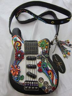 Mary Frances Good Vibes Guitar Handbag