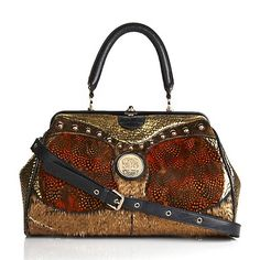 228-658 SHARIF Sharif Leather and Feather Satchel ♥ Be the first to write a review HSN price: $549.90 $137.97   You save $ 411.93 today! or 2 FlexPays of $ 68.98