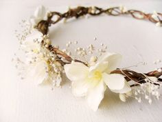 Hey, I found this really awesome Etsy listing at https://www.etsy.com/listing/176536031/flower-crown-bridal-headpiece-rustic