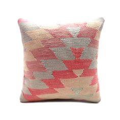 Bohemian Pink Pastel Vintage Turkish Kilim Pillow