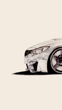 Car Design Sketch, Car Sketch, Bmw Wallpapers, Power Cars, Car Illustration, Bmw M4, Motorcycle Art, Car Drawings, Bmw Cars