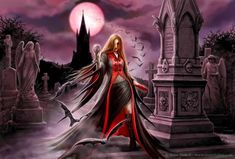 Fantasy Art by Anne Stokes - Blood moon