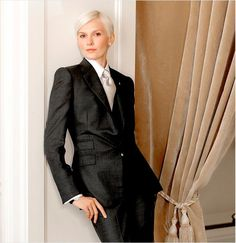 White Hair, Black Suit