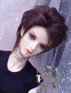 Bjd Doll Wig 1//3 8-9 Dal Pullip AOD DZ AE SD DOD LUTS Dollfie blonde mix brown