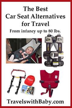 It's not always possible (or practical) to bring a car seat on vacation. Here are the best car seat alternatives for travel by taxi or car, and airplane. Toddler Travel, Travel With Kids, Family Travel, Travel Car Seat, Travel Stroller, Travel Toys, Travel Gadgets, Travel Hacks, Travel Essentials