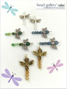 Learn to make your own dragonfly charms with Bead Gallery available at @MichaelsStores #madewithmichaels