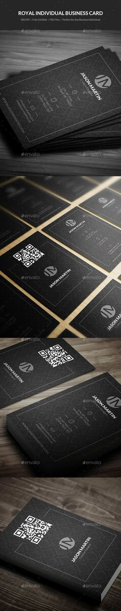 Royal Individual Business Card Template PSD #design Download: http://graphicriver.net/item/royal-individual-business-card-17/13839586?ref=ksioks
