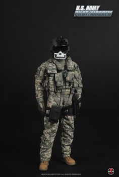 1//6 Scale Soldier Weapon Accessories Model US Army Pilot Aircrew Combat Suit