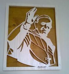 Quadro pop art di Papa Francesco in legno massello