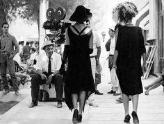 On the set of  F.Fellini's 8½