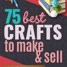 75 Crafts to Make and Sell - Easy Craft Ideas and DIY Projects to Make for Extra Cash - Etsy Shop Product Ideas and Quick to Make Gifts to sell videos easy crafts to make and sell Money Making Crafts, Easy Crafts To Sell, Sell Diy, Diy Crafts Videos, Diy Craft Projects, Fun Crafts, Diy And Crafts, Crafts For Kids, Kids Diy