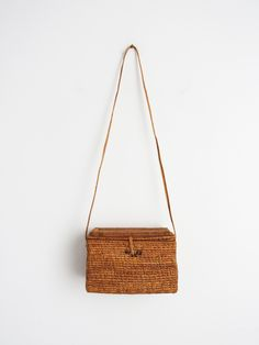 Rattan Grass Bali Bag // Vintage Woven Summer Bag SOLD